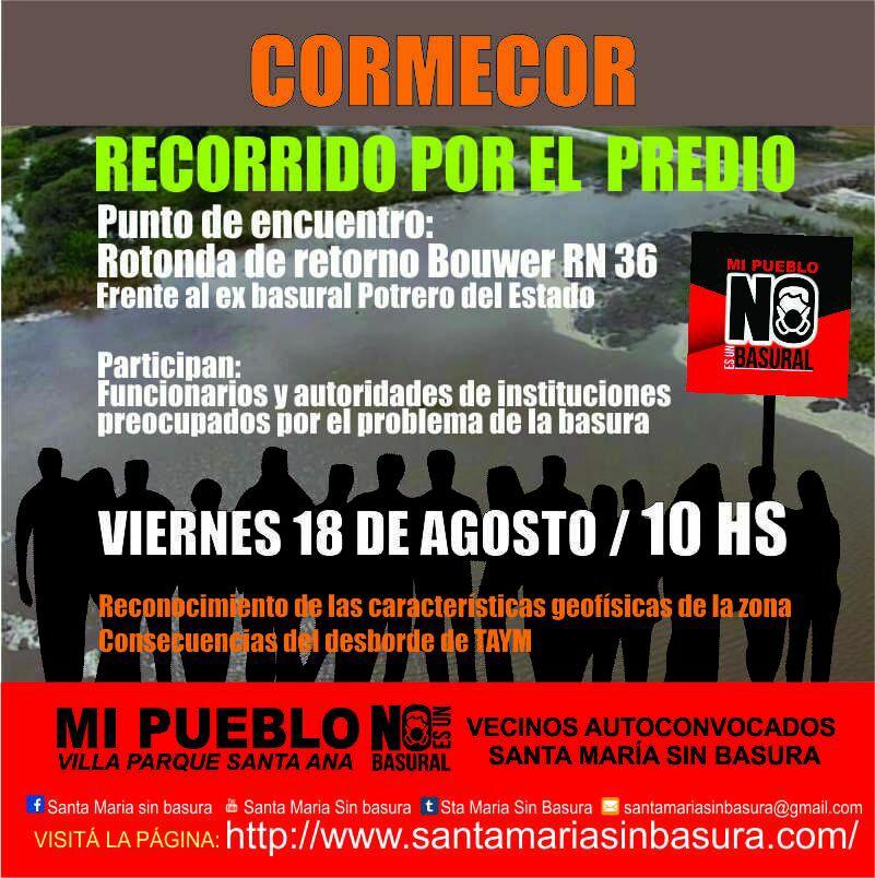 santa maria sin basura recorrido funcionarios - Concejales de Córdoba recorrerán el predio pretendido por Cormecor