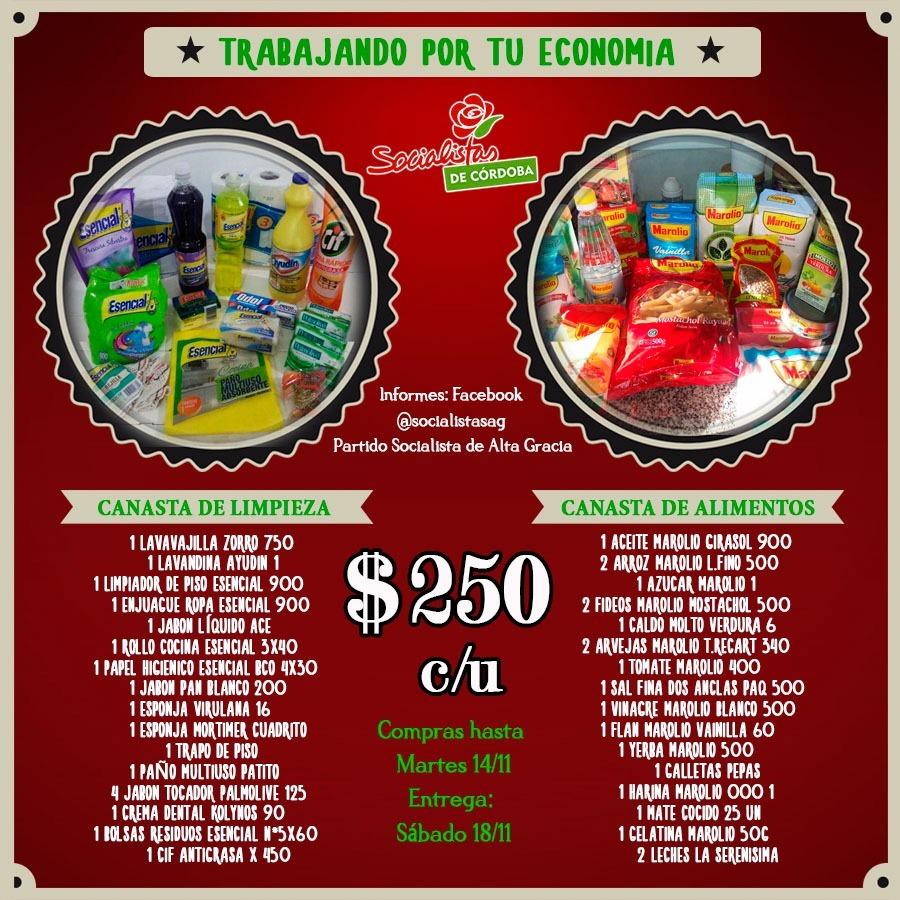 canastas socialistas - Canastas y compras comunitarias para paliar la crisis económica
