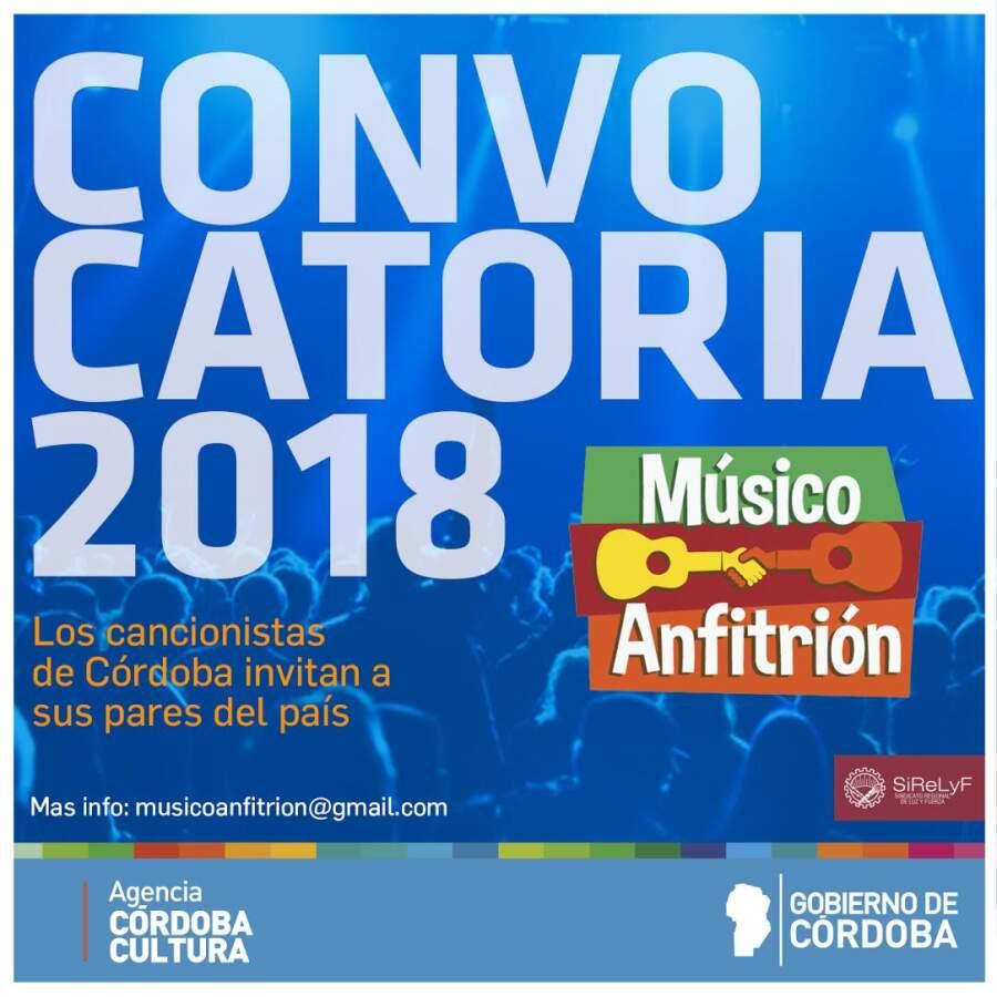 convocatoria musico anfitrion - Los cancionistas de Córdoba invitan a sus pares del país