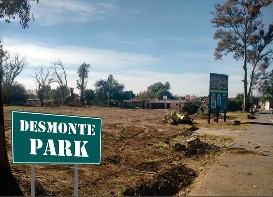 desmonte park agustin la porta - Vecinos presentaron queja por deforestación