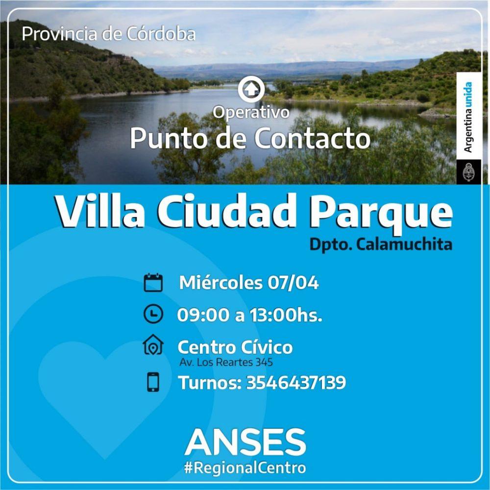 ANSES VCP - Operativos de ANSES en Yacanto, Los Reartes y Villa Ciudad Parque