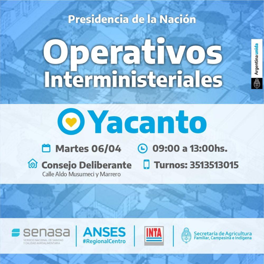 YACANTO ANSES - Operativos de ANSES en Yacanto, Los Reartes y Villa Ciudad Parque